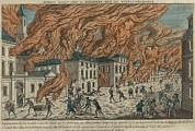 New York City Fire Of September 21-22 Print by Everett