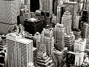 Black And White New York City Prints - New York City From Above Print by Vivienne Gucwa