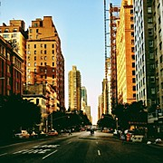 Landscapes Art - New York City Golden Sun by Vivienne Gucwa