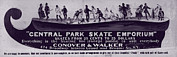 Skating Framed Prints - New York City, Illustration Advertising Framed Print by Everett