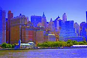 City Scape Photo Posters - New York City Poster by Julie Lueders