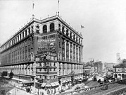 1900s Art - New York City. Macys Building by Everett