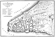 New York City Map Posters - New York City Map, 1728 Poster by Granger