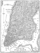 Manhattan Map Framed Prints - New York City Map, 1766-7 Framed Print by Granger