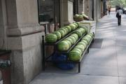 Watermelons Photos - New York City Market by Frank Romeo