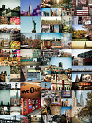 New York Newyork Photo Posters - New York City Montage 2 Poster by Darren Martin