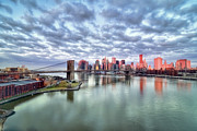 "Downtown Metal Prints - New York City Metal Print by Photography by Steve Kelley aka ""mudpig"""