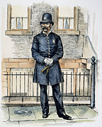 Police Officer Prints - New York City Policeman Print by Granger