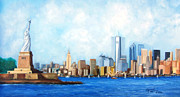 Liberty Paintings - New York City Rebirth by Leonardo Ruggieri