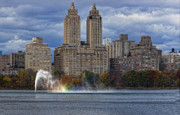 Urban Scenic Art - New York City Sky Line Central Park Reservoir Facing West 2 by Robert Ullmann