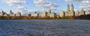 New York City Skyline Art - New York City Sky Line Central Park Reservoir Facing West 3 by Robert Ullmann