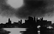 Financial Failure Prints - New York City Skyline, During Blackout Print by Everett