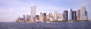 Twin Towers Trade Center Digital Art - New York City Skyline by Mike McGlothlen