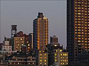 City Scenes Art - New York City Skyline Sunset by Robert Ullmann