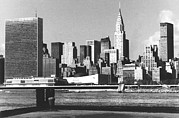 Pan Am Framed Prints - New York City Skyline, View Framed Print by Everett