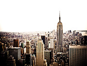 Nyc Cityscape Posters - New York City Skyline Poster by Vivienne Gucwa