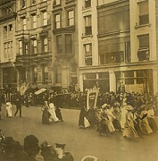 Rights Prints - New York City Suffrage Parade Print by Everett