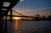 Manhattan Bridge Digital Art - New York City Sunrise by Bill Cannon