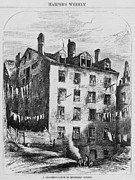 Tenements Prints - New York City Tenement House Print by Everett