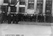 Bread Line Prints - New York City, The Bowery, Bowery Men Print by Everett