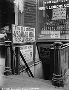 Liquor Store Prints - New York City, The Bowery, Entrance Print by Everett