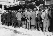 Bread Line Prints - New York City, The Bowery, Men Waiting Print by Everett