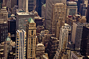 Skylines Metal Prints - New York City Urban Landscape Metal Print by Vivienne Gucwa