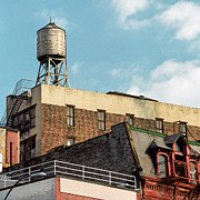 Rooftop Framed Prints - New York City Water Tower 2 Framed Print by Gary Heller