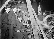 Car Crash Photos - New York City, Wrecked City Auto by Everett
