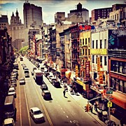 Landscapes Art - New York Citys Chinatown by Vivienne Gucwa