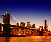 Brooklyn Bridge Posters - New York Cityscape Poster by ©jesuscm