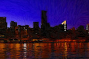 Reflection Pastels Prints - New York Colors Print by Stefan Kuhn
