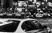 Police Station Framed Prints - New York Cop Car BW8 Framed Print by Scott Kelley