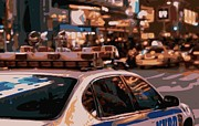 New York Cops Framed Prints - New York Cop Car Color 16 Framed Print by Scott Kelley