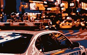 New York Cops Framed Prints - New York Cop Car Color 6 Framed Print by Scott Kelley