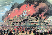 The Good Book Framed Prints - New York Crystal Palace Fire, 1858 Framed Print by Photo Researchers