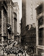 Broad Framed Prints - New York Curb Exchange In 1916. In 1921 Framed Print by Everett