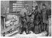 Humane Framed Prints - New York: Dog Pound, 1883 Framed Print by Granger