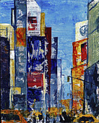 Broadway Mixed Media - New York Dreams by Cindy Johnston