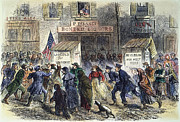 Brinton Framed Prints - New York: Election, 1864 Framed Print by Granger
