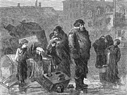 Homeless Man Prints - New York: Eviction, 1872 Print by Granger