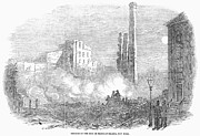 New York: Fire, 1853 Print by Granger