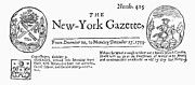 1733 Posters - New York Gazette, 1733 Poster by Granger