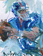 Quarterback Paintings - New York Giants Artwork by Robert Joyner