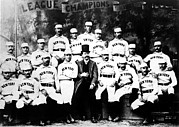 Baseball Uniform Prints - New York Giants, Baseball Team, 1889 Print by Everett