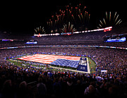 New York Stadiums Prints - New York Giants Pre-Game Print by Anthony Salerno