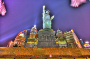Electronic Music Fest Prints - New York in Las Vegas Print by Nicholas  Grunas