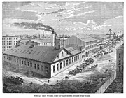 1876 Framed Prints - New York: Iron Works, 1876 Framed Print by Granger
