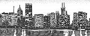 City Drawings Prints - New York Print by Jo Anna McGinnis