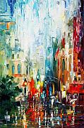 Washed Framed Prints - New York Framed Print by Leonid Afremov